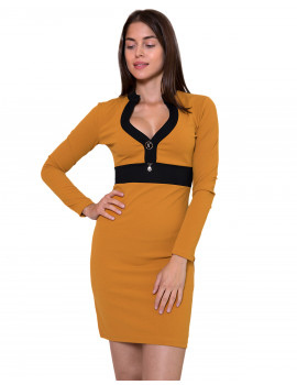 Shelley Dress - Ochre Yellow