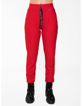 Warm Cotton Jogging Trousers - Red