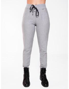 Warm Cotton Jogging Trousers - Grey