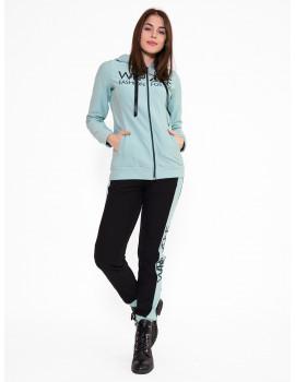 Cotton Jogging Trousers - Mint-Black
