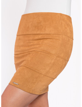 Loretta Mini Skirt - Camel