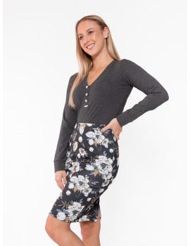 Lola Skirt - Black-White