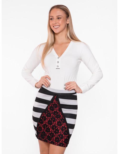Talia Striped Mini Skirt