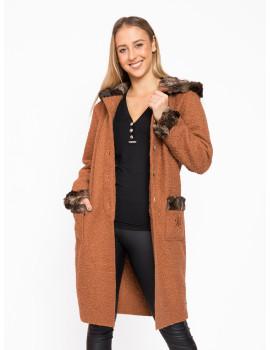 Hooded Coat - Brown