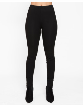 Warm Cotton Leggings - Black