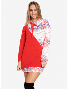 Holiday Tunic - Red-Blue-White