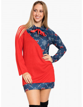 Holiday Tunic - Red-Blue