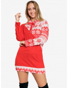 Holiday Tunic - Red-White