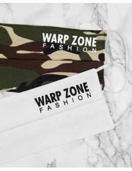 Warp Zone Mask - Camo Print / White