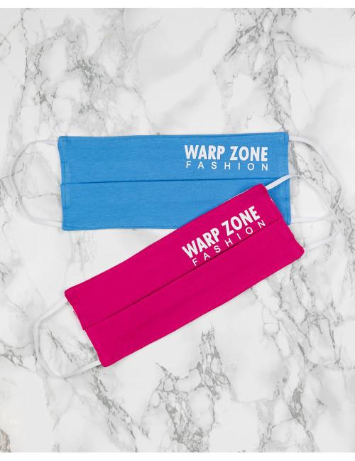 Warp Zone Mask - Blue / Pink