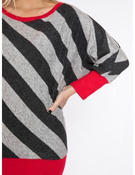 Mohair T-sleeve Top - Red