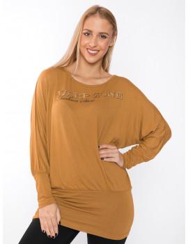 Brown T-sleeve Top