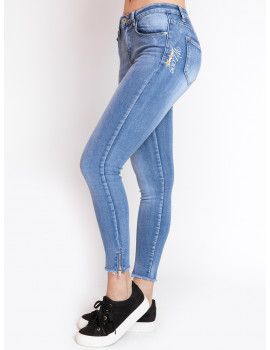 Side-zip Skinny Jeans