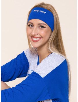Embroidered Headband - Royal Blue