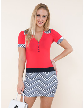 Button Tunic - Red