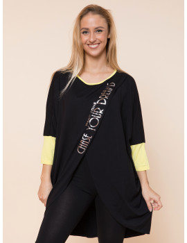 Chase Loose Top - Black-Yellow