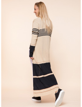 Long Light Knit Cardigan - Brown