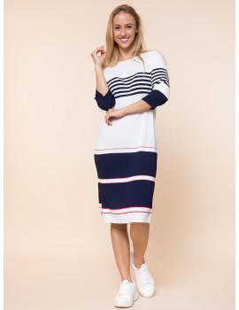Light Knit Dress - Navy