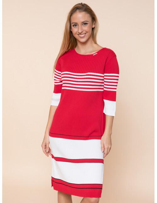 Light Knit Dress - Red