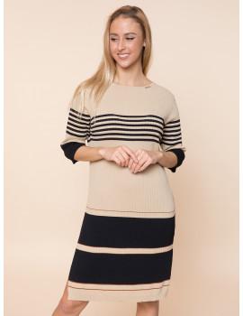 Light Knit Dress - Brown