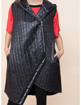 Spring Puffer Vest - Black