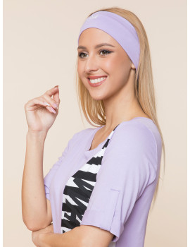 Embroidered Headband - Lavender