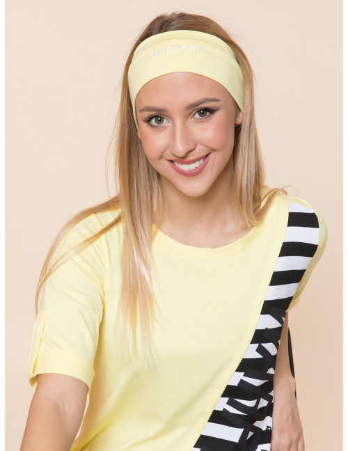 Embroidered Headband - Pastel Yellow