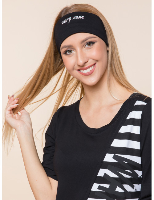 Embroidered Headband - Black