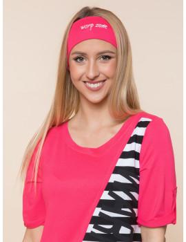 Embroidered Headband - Pink