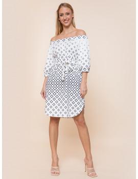 Ariana Dress with Pockets - White Print