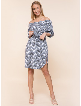 Ariana Dress with Pockets - Grey Print