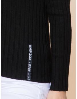 V-neck Light Knit - Black