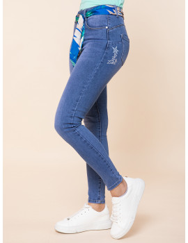 Polly Skinny Jeans with Satin Belt