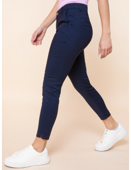 Cigarette Trousers - Navy