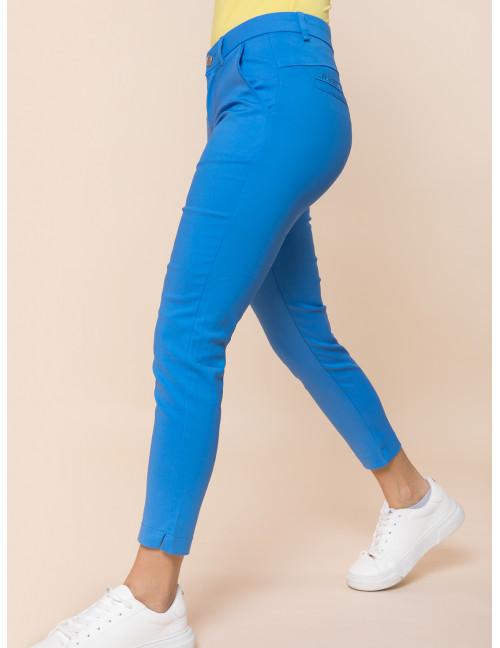 Cigarette Trousers - Blue