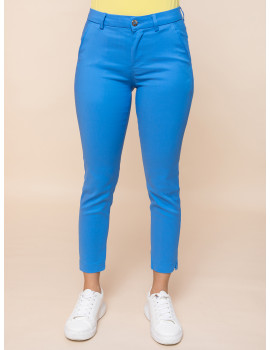 Cigarette Trousers - Blue