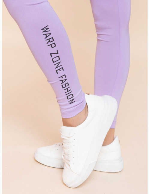 Warp Zone Leggings - Lavender