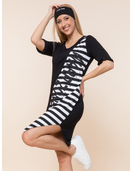 Vani Tunic - Black Wide Stripes