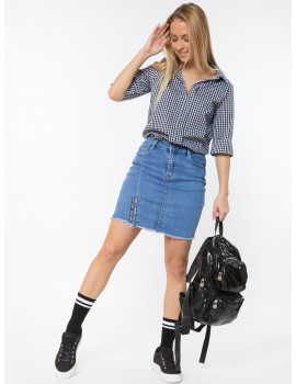 Warp Zone Denim Mini Skirt