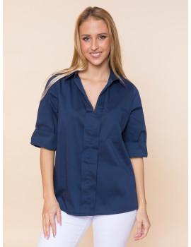 Sammy Poplin Shirt - Navy