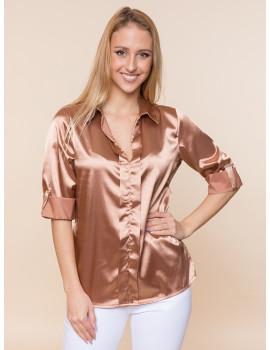 Sammy Satin Shirt - Bronze