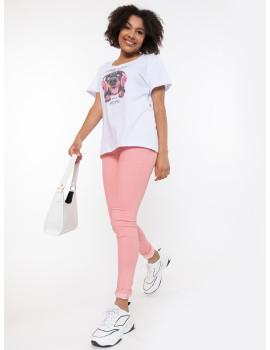 Powder Pink Skinny Jeans