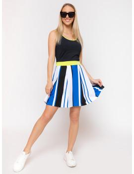 Chloe Dress - Royal Blue-Black