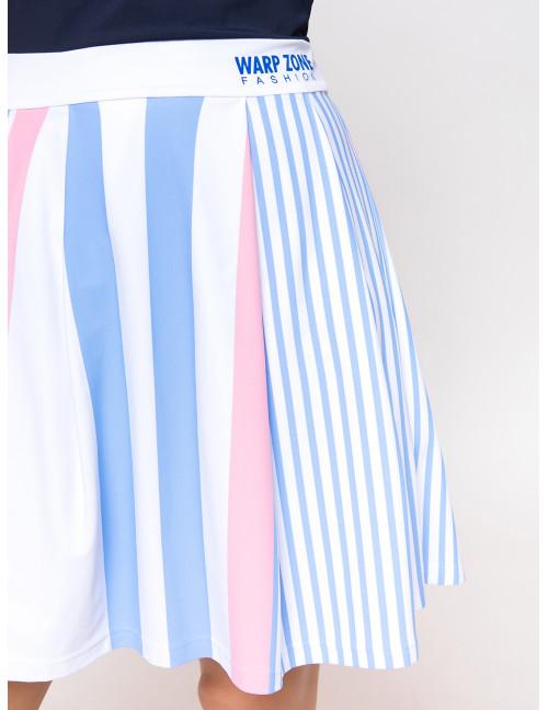 Chloe Dress - Blue-Pink