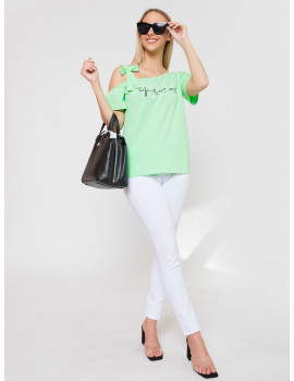 Henriett Cotton Top - Green