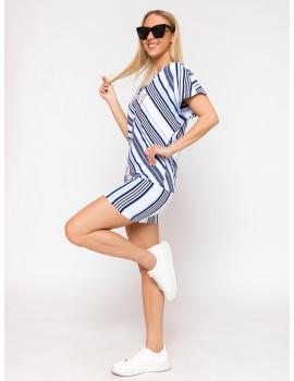 Striped Tunic - White