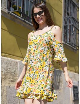 Sienna Dress - Yellow