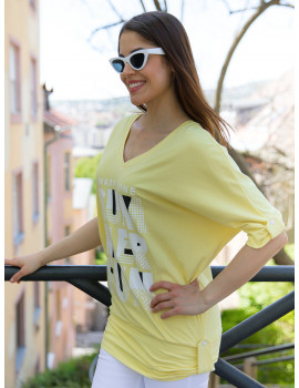 Summer T-Sleeve Top - Yellow