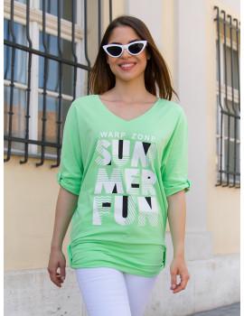 Summer T-Sleeve Top - Green