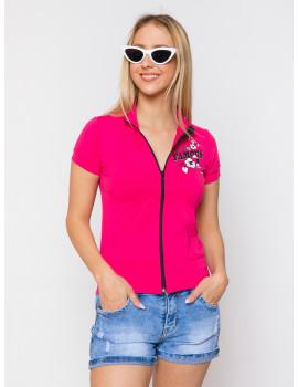 Lily Zip Up Top - Pink